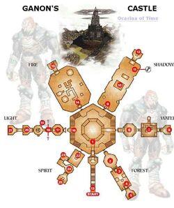 Mapa Castillo Ganon OoT