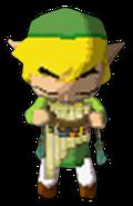 Link tocando la Flauta Terrenal ST