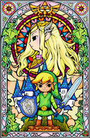 Zelda und Link Artwork(The Wind Waker)