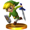 Link Cartoon Trophée SSB4 3DS