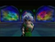 Link poniendose la mascara de la Fiera Deidad