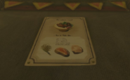 Breath of the Wild Recipe (Poster) Meat & Rice Bowl (East Akkala Stable)