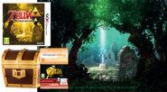 Imagen promocional del contenido de la edición limitada The Legend of Zelda A Link Between Worlds