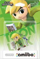 Embalaje europeo del amiibo de Toon Link - Serie Super Smash Bros.