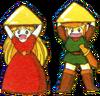 Link et Zelda Triforce LoZ