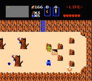 Link entrando a la cueva en la Segunda Búsqueda