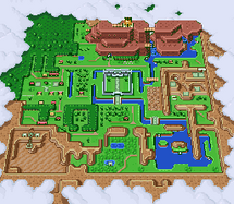 Mapa de Hyrule (A Link to the Past)