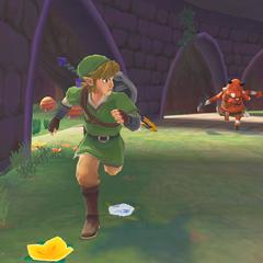 Link fugge da un Boblin