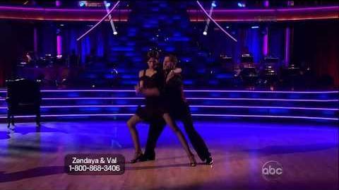 Zendaya Coleman & Val Chmerkovskiy w Maksim & Anna - Argentine Tango - Week 5