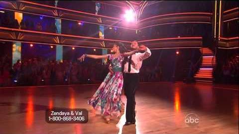 Zendaya Coleman & Val Chmerkovskiy - Foxtrot - Week 8