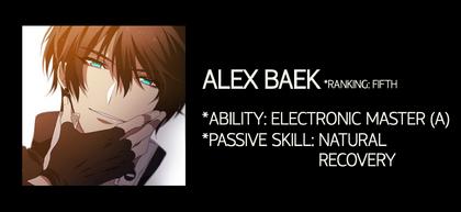 Alex Baek Stats