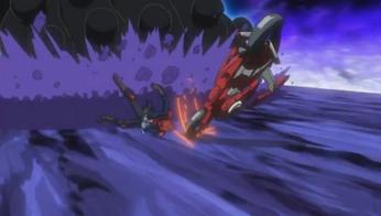 Yusei's Duel Runner fails