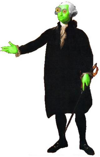 Zombie george washington character