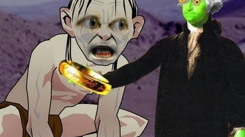Zombie George Washington Meets Gollum From Lord of the Rings