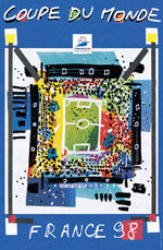 1998 Football World Cup poster