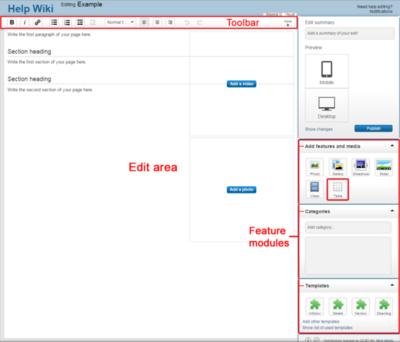 Edit toolbar table highlighted