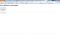 Error code when saving blog