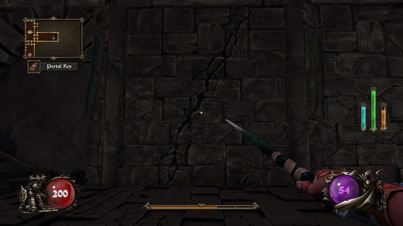 Cursed secret wall