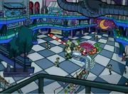 Downtown mall Christmas interior