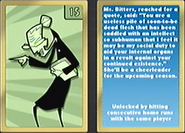 Nicktoons MLB Ms. Bitters Card