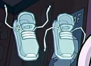Disguised as flying shoes
