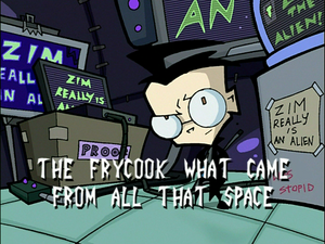 The Frycook What Came from All That Space (Title Card)