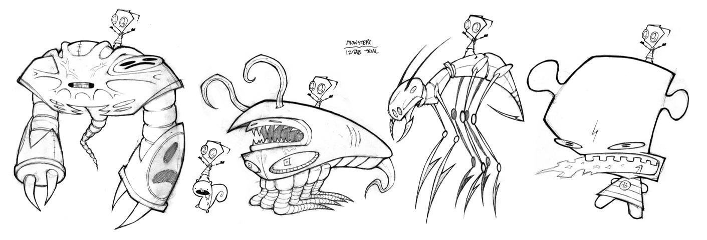 Image - Trial Monsters.jpg | Invader ZIM Wiki | FANDOM ...