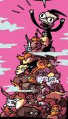 Dib climbin pile o kitties