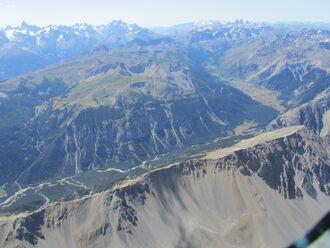 Vallée de la Clarée (taken from 3,500 m altitude)