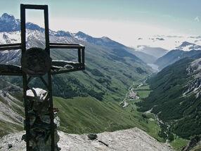 Vue sur chianale et sa vallée