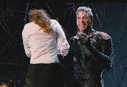 Venom holding Mj's Hostage
