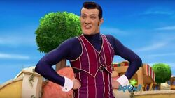 Robbie Rotten telling Stephine that LazyTown will always be lazy and she should get along with it by discouraging her