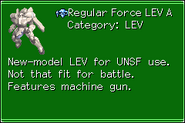 Regular Force LEV A MechRef