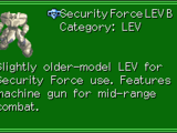 Security Force LEV B