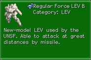 Regular Force LEV B MechRef