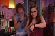 Logan is shocked when Quinn starts zapping Zoey and tries to stop her.