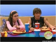 Quinn and Logan are on the same side of the debate about whether Zoey should give the radio back to Chase or not.