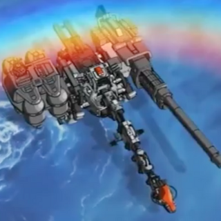 Aerial view of Ultrasaurus with Gravity Cannon.