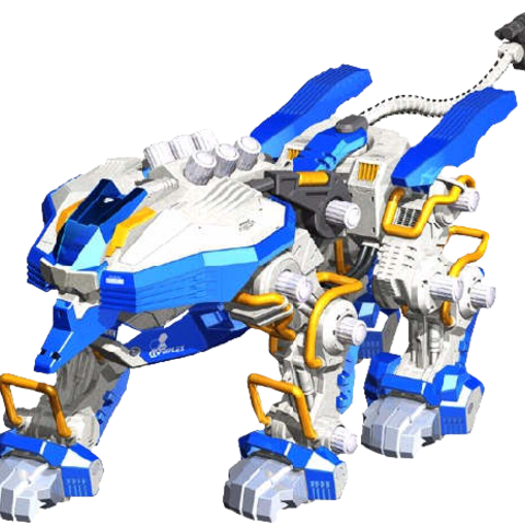 Quad Liger as it appeared in cgi models on Tomy's site.
