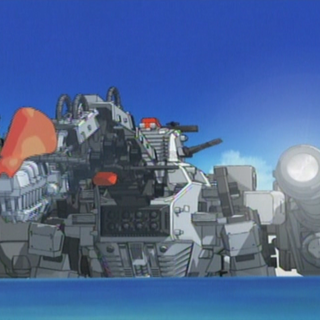 Ultrasaurus with Gravity Cannon in the anime.