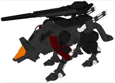 Image result for zoids irvine's command wolf