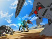 1 three Zoid battle