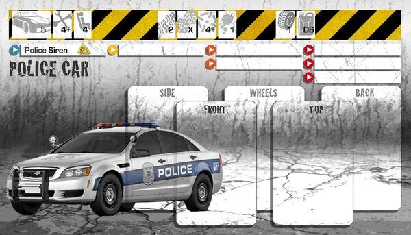 Dashboard Police Car