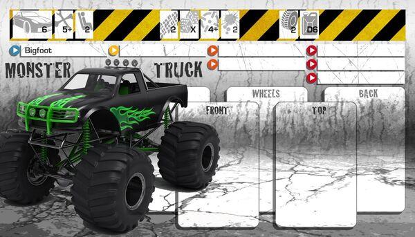 Dashboard Monster Truck