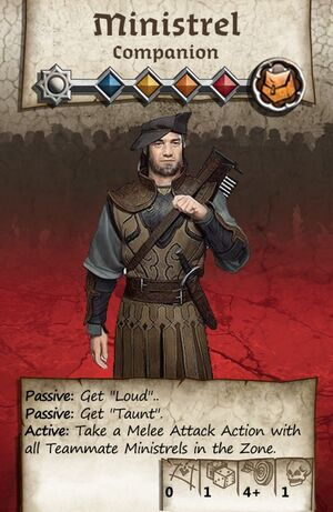 Zombicide Black Plage - Companion - Ministrel