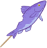 Purple Fish on a Stick