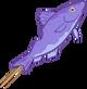 Purple Fish on a Stick