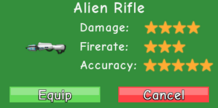 Alien Rifle Stat