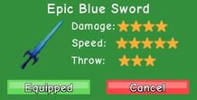 Epic Blue Sword Stats