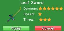 Leaf Sword Stats
